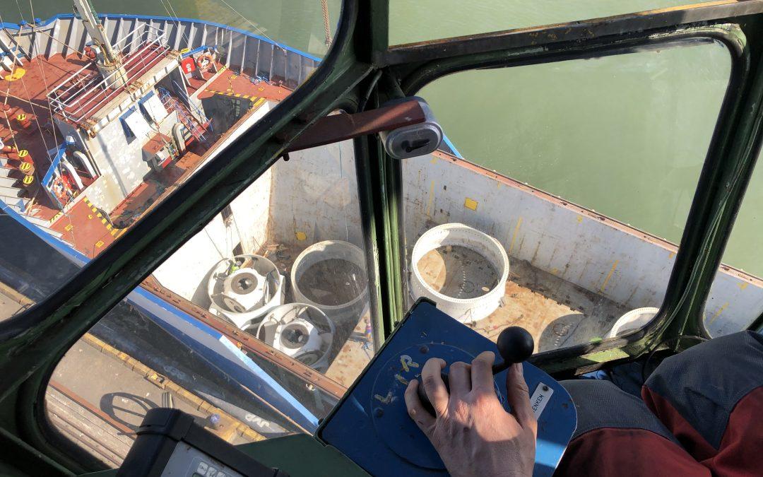 Loading the vessel